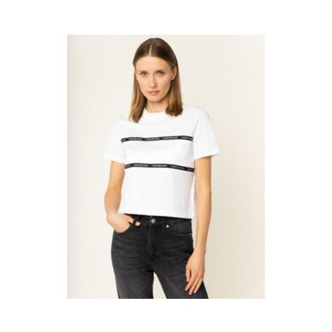 Calvin Klein Jeans Tričko J20J213282 Biela Regular Fit
