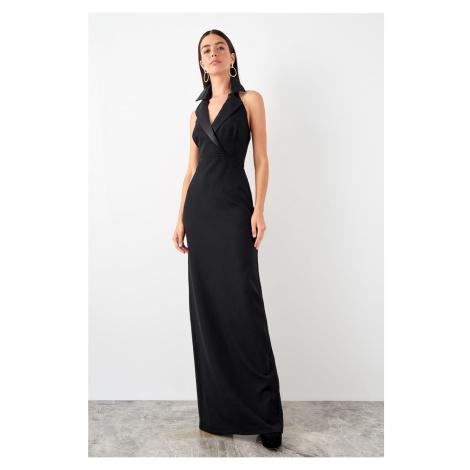Trendyol dámske večerné šaty so zahnutým golierom