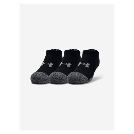 Ponožky 3 páry dětské Under Armour Čierna