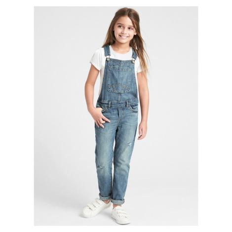 Jeans s laclem dětské GAP Modrá