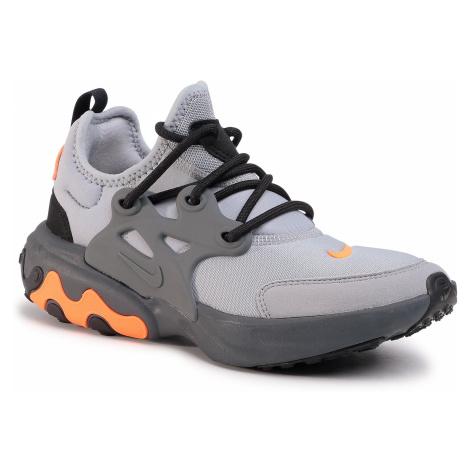 Topánky NIKE - React Presto (Gs) BQ4002 010 Wolf Grey/Total Orange