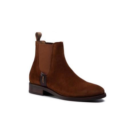 Gant Členková obuv s elastickým prvkom Fayy 21553940 Hnedá
