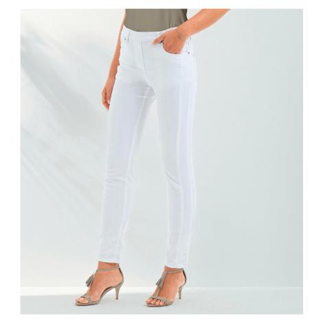 Blancheporte Strečové nohavice biela