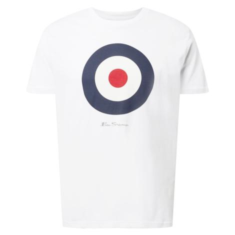Ben Sherman Tričko 'TARGET'  biela / námornícka modrá / červená