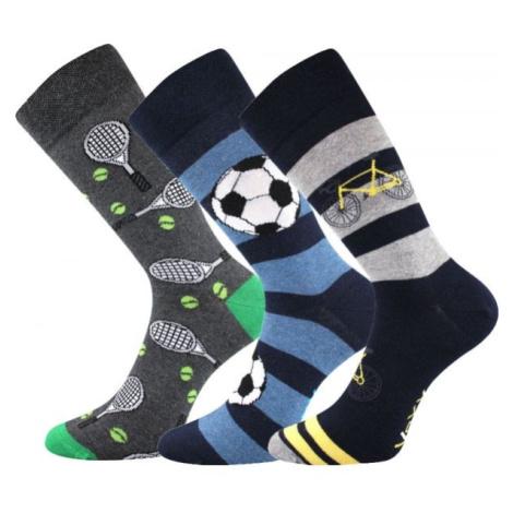 Voxx S-BOX pánska 3pack čierna - Pánske ponožky