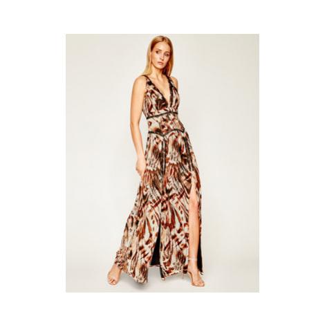 Marciano Guess Večerné šaty Printed Poly GGT 02G811 7068Z Hnedá Regular Fit