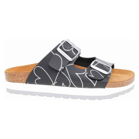 Dámské pantofle Bio Life 0014 Roxana 460 black 0014 Roxana 460 black