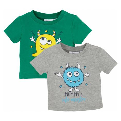 Detské tričko (2 ks) bio bavlna bonprix