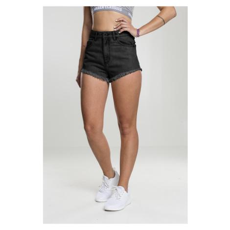 Dámske kraťasy Urban Classics Ladies Denim Hotpants black washed