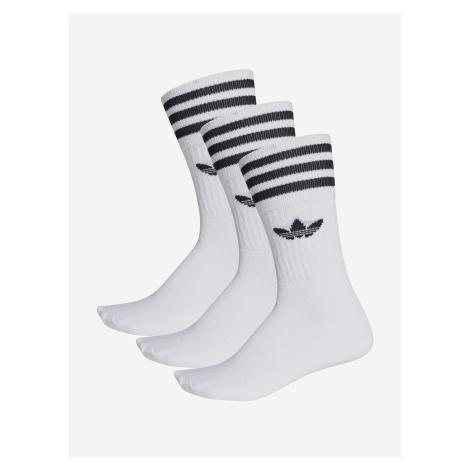 Ponožky adidas Originals SOLID CREW SOCK Biela