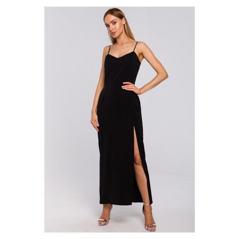 Čierne šaty M485 Moe