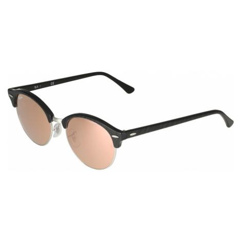 Ray-Ban Slnečné okuliare 'Clubround'  ružová / čierna