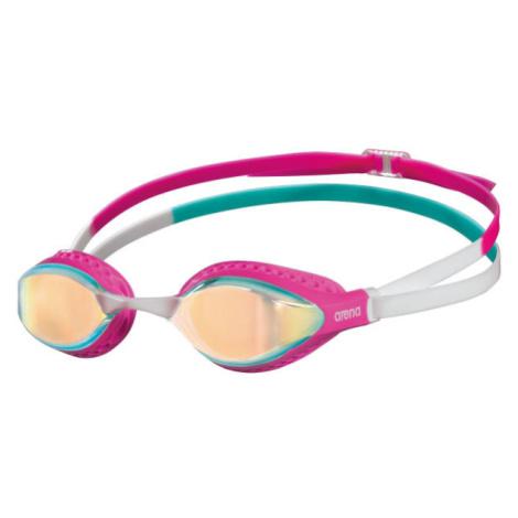Arena AIRSPEED MIRROR ružová - Plavecké okuliare