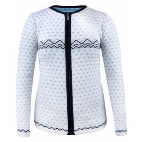 Dámsky sveter Kama 5005 100 biely