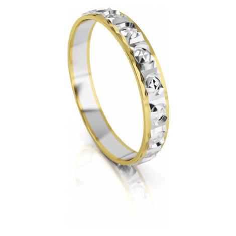 Art Diamond Pánsky bicolor snubný prsteň zo zlata AUG303 mm