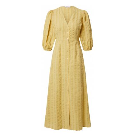 EDITED Košeľové šaty 'Elena'  žltá