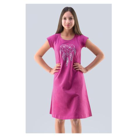 Dievčenská nočná košeľa Hearts ružová Gina