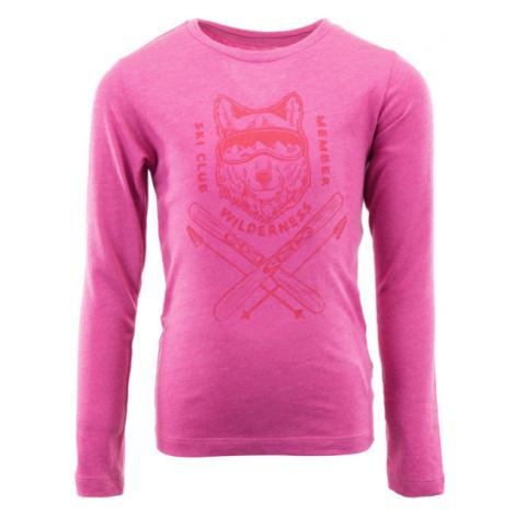ALPINE PRO ERNO ružová - Detské tričko
