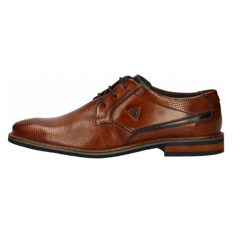 bugatti Šnurovacie topánky  hnedá