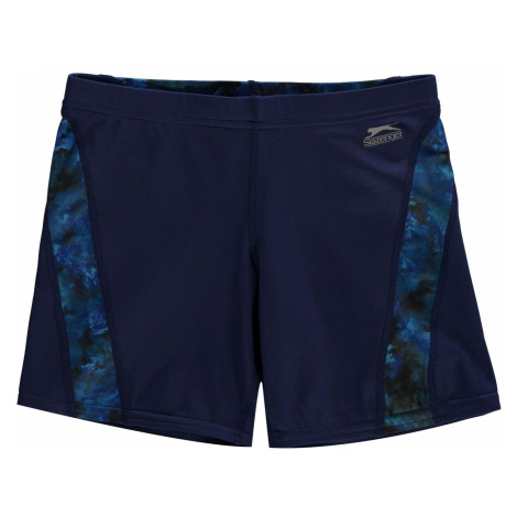 Slazenger Curve Panel Jammers Swim Shorts Junior Navy/Blue
