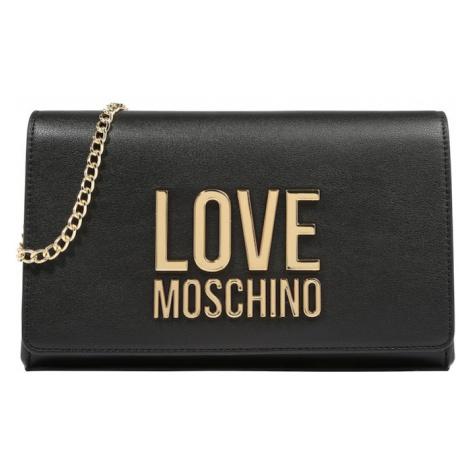 Love Moschino Taška cez rameno  čierna / zlatá