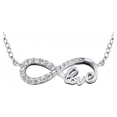 Engelsrufer Strieborný náhrdelník Infinity so zirkónmi ERN-LILINF-LOVE