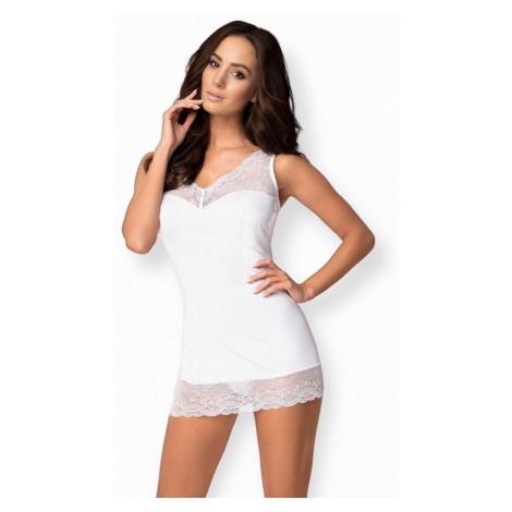 Elegantná košieľka Miamor chemise white - Obsessive