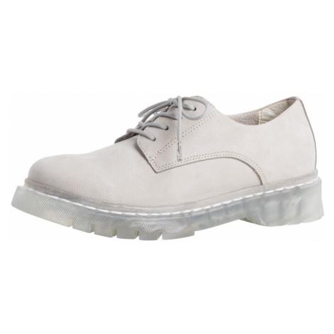 TAMARIS Šnurovacie topánky  prírodná biela