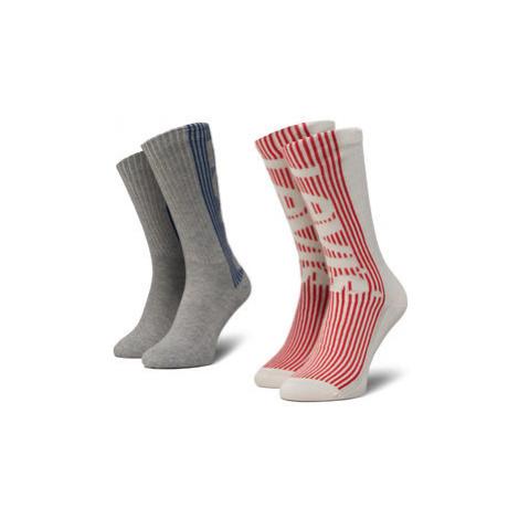 Levi's® Súprava 2 párov vysokých ponožiek unisex 37157-0322 Sivá Levi´s