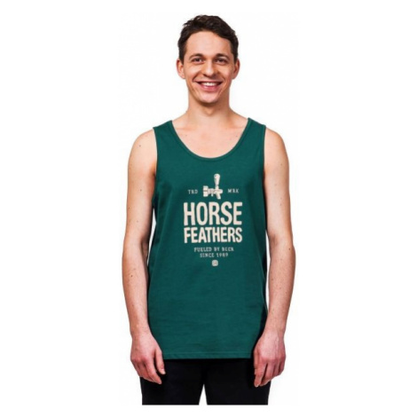 Horsefeathers SPIGOT TANK tmavo zelená - Pánske tielko