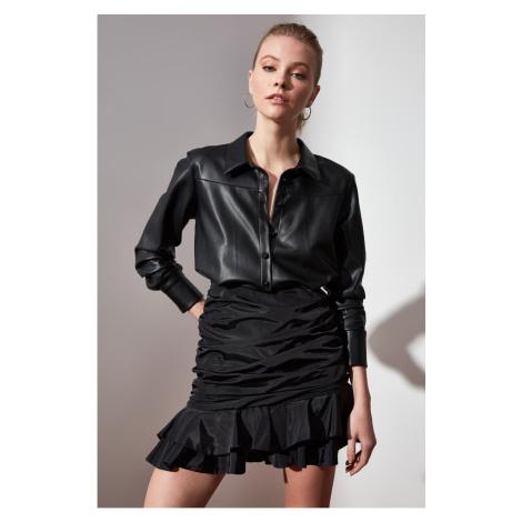 Trendyol Fdial Leather Dress with Black Belt