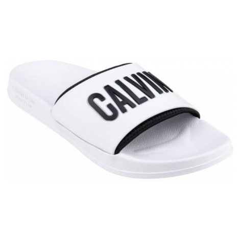 Calvin Klein SLIDE biela - Pánske šľapky