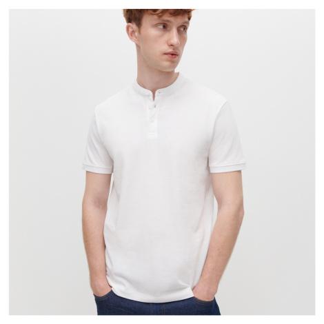Reserved - Tričko polo so stojačikom - Biela