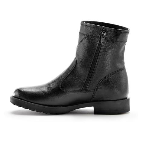 Blancheporte Čižmy s vlnenou kožušinou čierna