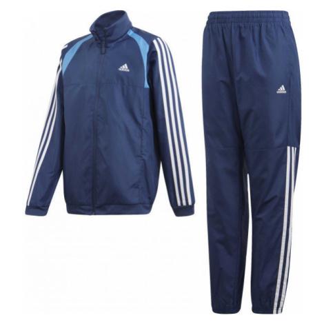 adidas JB WOVEN TS tmavo modrá - Chlapčenská súprava