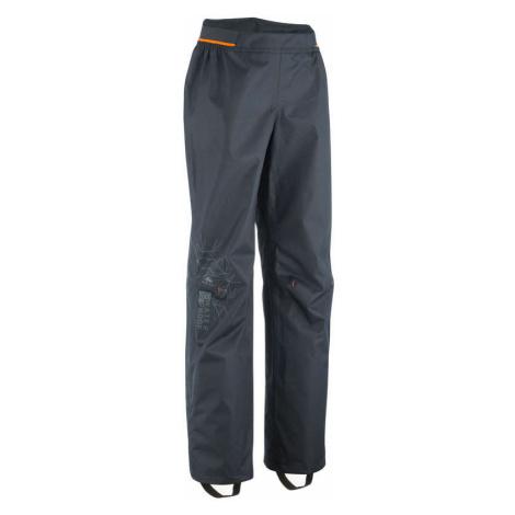 QUECHUA Detské turistické nohavice do dažďa MH500 na 7 – 15 rokov čierne ŠEDÁ 151-160cm12-13R