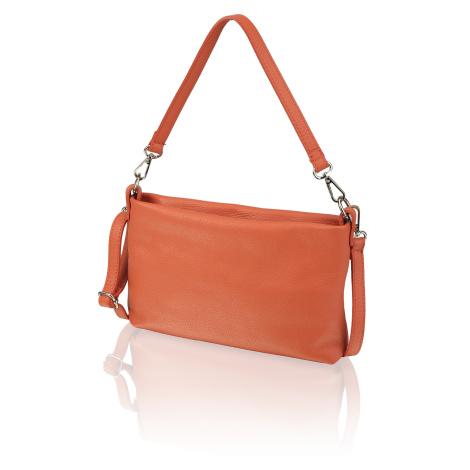 Lazzarini hladká koža večerná taška oranžová