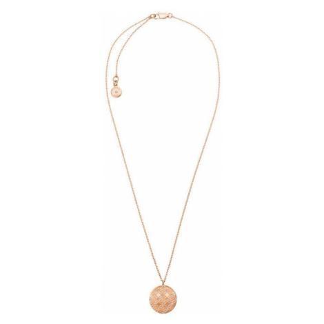 Michael Kors MK Jemný pozlátený náhrdelník z oceli s kryštálmi MKJ4478791