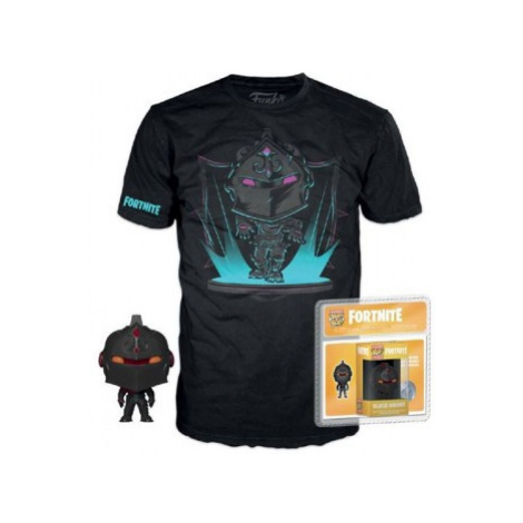 Figúrka a tričko Funko POP! Tees: Fortnite - Black Knight