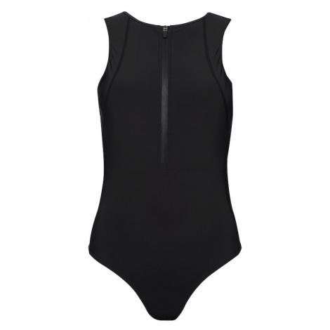 Superdry Športové jednodielne plavky  čierna