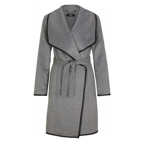 s.Oliver BLACK LABEL Prechodný kabát  sivá melírovaná