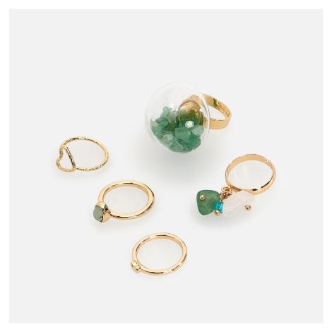 Reserved - Súprava 5 prsteňov - Zlatá