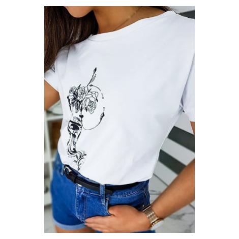 ROSE women's white T-shirt RY1282 DStreet