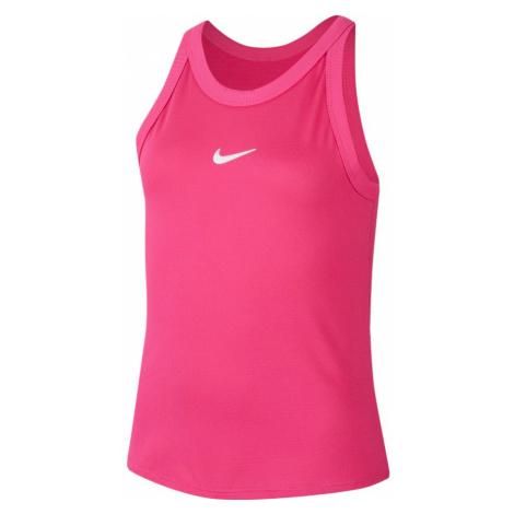 Dievčenské tielko Nike Court Dri-Fit Vivid Pink