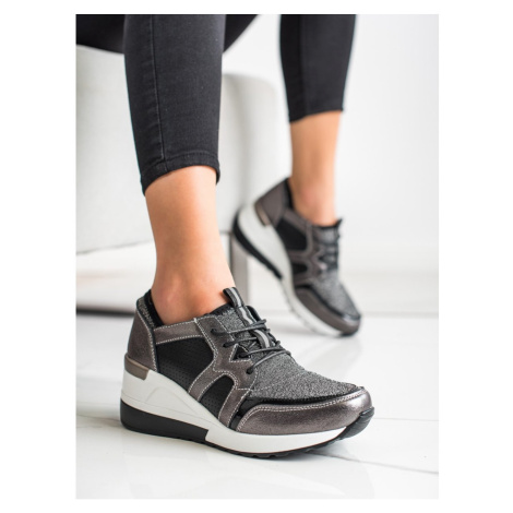 SHINY VINCEZA LEATHER SNEAKERS