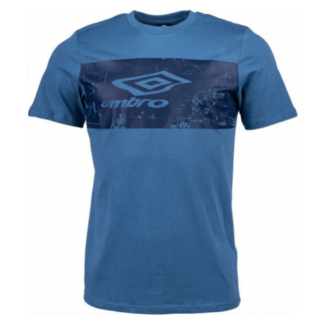 Umbro FANS TEE tmavo modrá - Pánske tričko