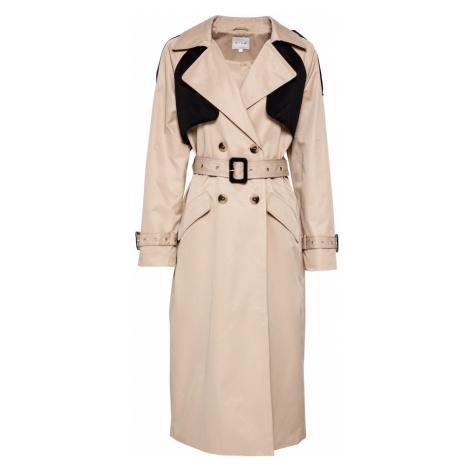 VILA Prechodný kabát  béžová / čierna