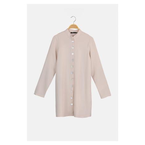 Trendyol Beige Button Detailed Tunic