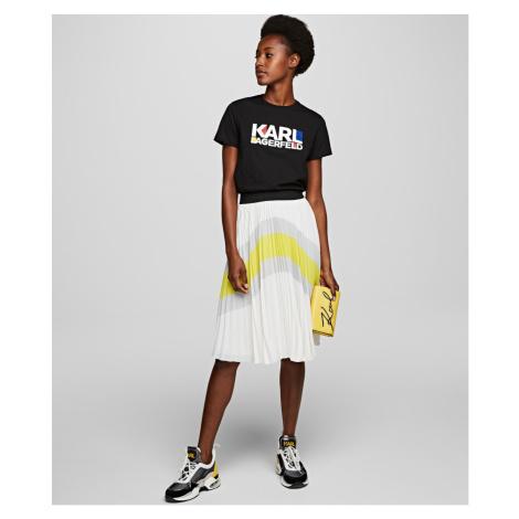 Sukňa Karl Lagerfeld Colourblock Pleated Skirt