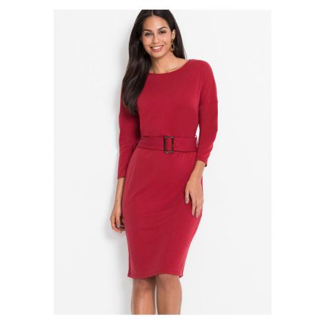 Oversize-šaty s opaskom, džersejový materiál